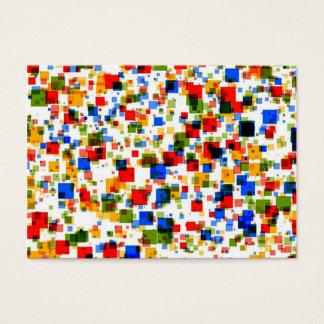 padrão colorido de quadradinhos business card