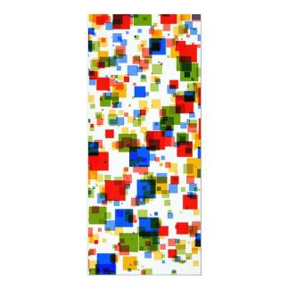 padrão colorido de quadradinhos card