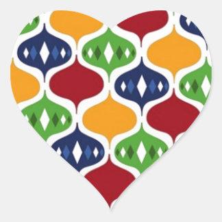 padrão com bolas heart sticker