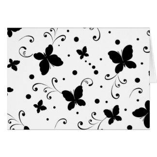 padrão com borboletas card