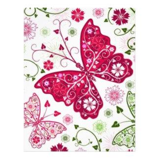 padrão com borboletas flyer