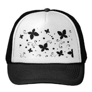 padrão com borboletas trucker hat