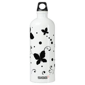 padrão com borboletas water bottle