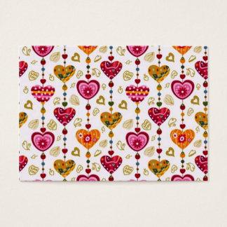 padrão com corações business card