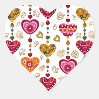 padrão com corações heart sticker