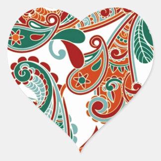 padrão com cornecopias heart sticker