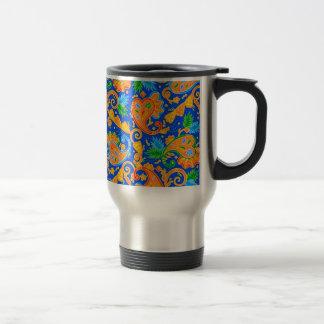 padrão com cornecopias travel mug
