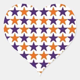 padrão com estrelas heart sticker