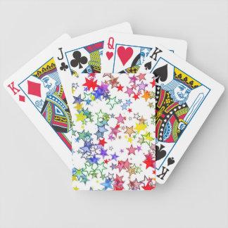 padrão com estrelinhas bicycle playing cards