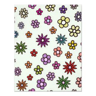 padrão com flores card