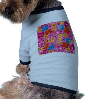 padrão com flores pet clothing