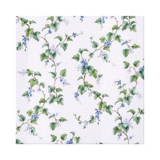 padrão com flores em cores suaves stretched canvas print