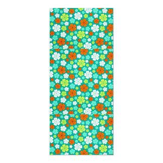 padrão com flores forma de trevo card