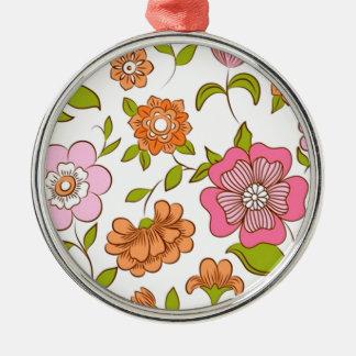 padrão com flores metal ornament