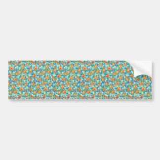padrão com flores pequenas bumper sticker
