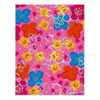 padrão com flores postcard