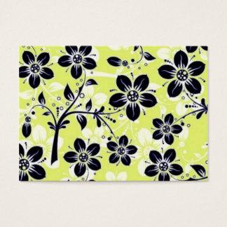 padrão com flores pretas business card