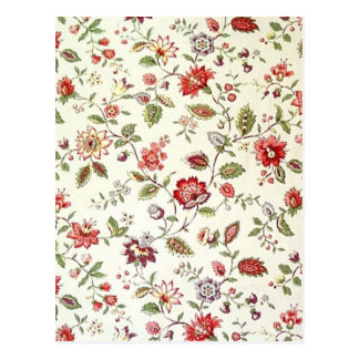 padrão com florinhas vermelhas postcard