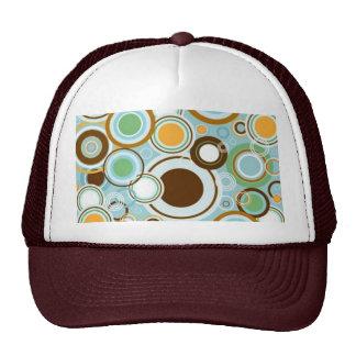 padrão  com formas circulares trucker hat
