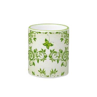 padrão com formas de caracol em verde ringer mug