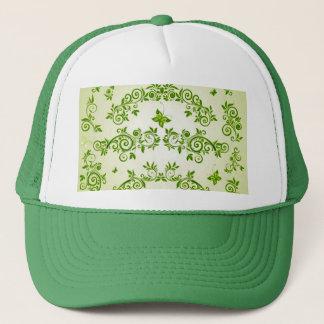 padrão com formas de caracol em verde trucker hat