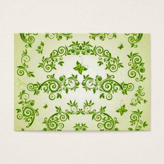 padrão com  formas em caracol verde business card