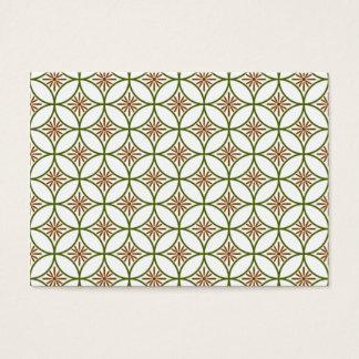 padrão com formas geometricas business card