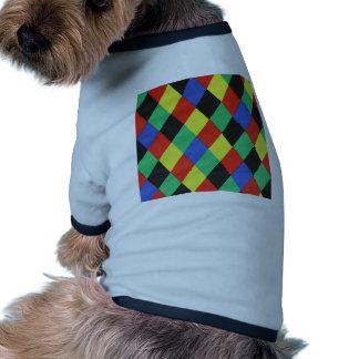 padrão com lousangulos dog shirt