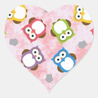 padrão com mochos heart sticker