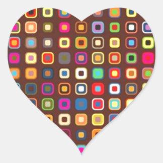 padrão com quadrados pequenos heart sticker