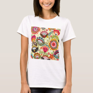 padrão com ramos de flores T-Shirt