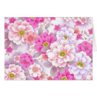 padrão de floral bonito greeting card