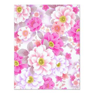 padrão de floral bonito card