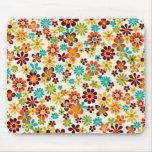 padrão de flores mousepads