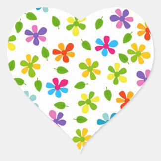 padrão de florinhas heart sticker