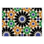 padrão de formas geometricas tarjeta de felicitación