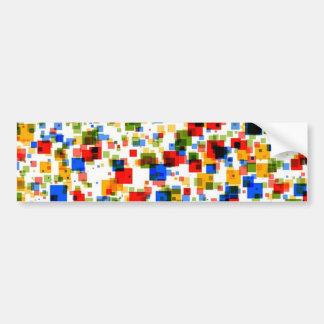 padrão de quadradinhos coloridos bumper sticker