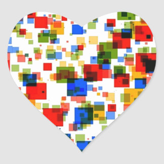 padrão de quadradinhos coloridos heart sticker