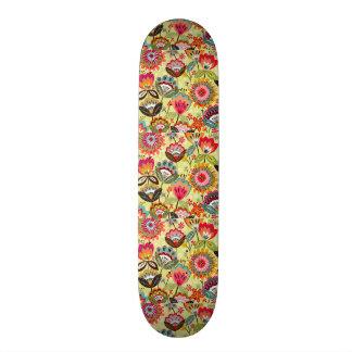 padrão de ramos de flores skate decks