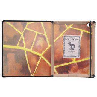 padrão de riscas em manchas castanhas iPad capa