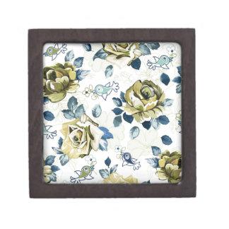padrão de rosas caja de joyas de calidad