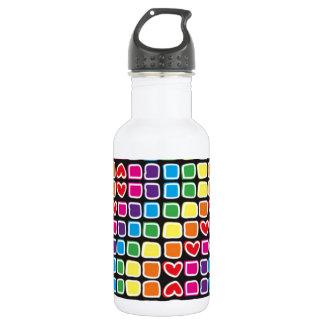 padrão em zig zag colorido stainless steel water bottle