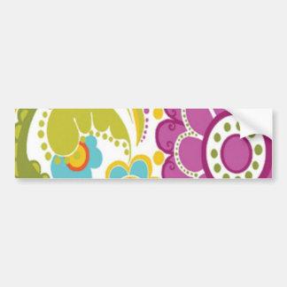 padrão floral bonito bumper sticker