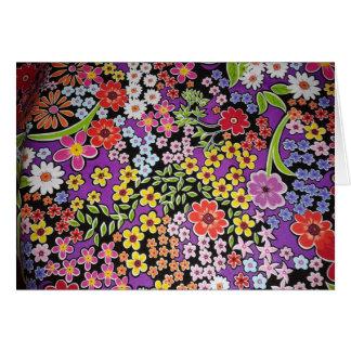 padrão floral bonito greeting card