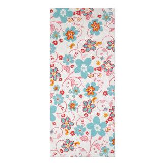 padrão floral bonito card