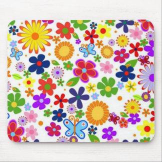 padrão floral bonito mouse pad