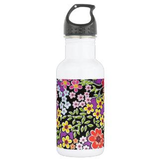padrão floral bonito 18oz water bottle