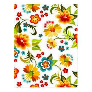 padrão floral bonito postcard