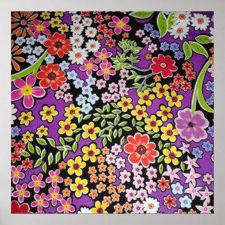padrão floral bonito poster