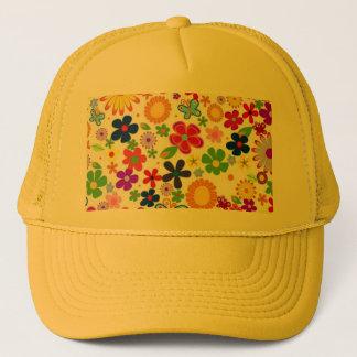 padrão floral bonito trucker hat
